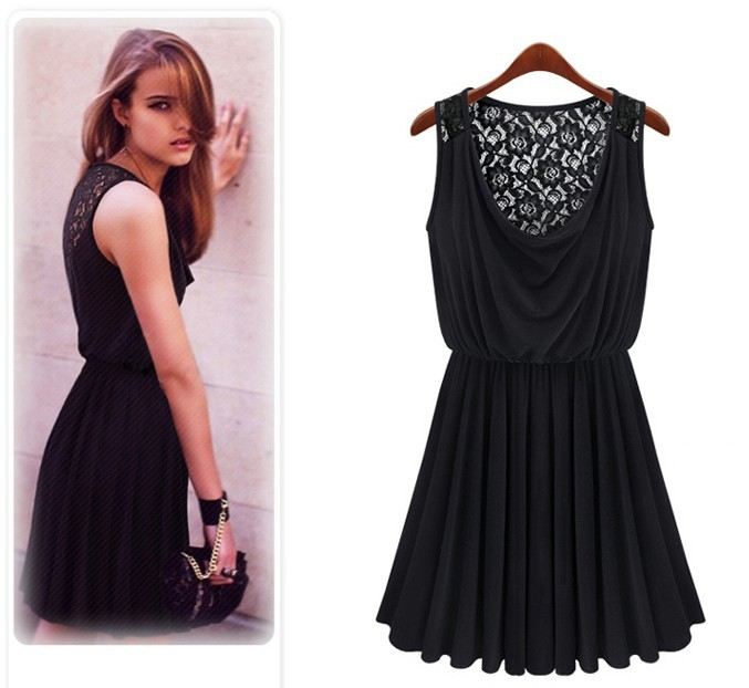 A1162 2014 new Promotions trendy  fashion women clothes casual sexy lace dress sleeveless retro sultry vestidos-in Dresses from Apparel & Accessories on Aliexpress.com
