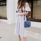 jumpsuit,tumblr,off the shoulder,stripes,striped jumpsuit,cropped jumpsuit,bag,blue bag,suede bag