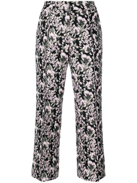 Giuseppe Di Morabito cropped women floral black wool pants