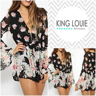 romper fashion trendy floral dress floral romper