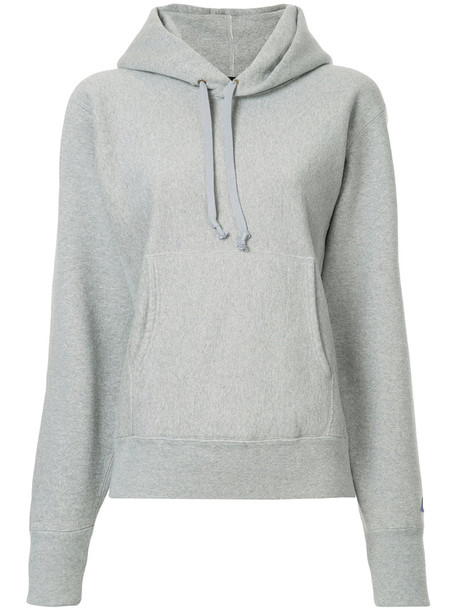 Hysteric Glamour hoodie women cotton grey sweater