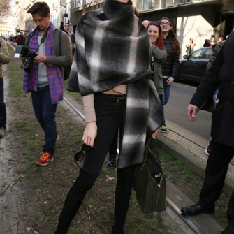 scarf jeans coat red lime sunday pants boots leggings top jeggings cape karlie kloss black leggings scarf red