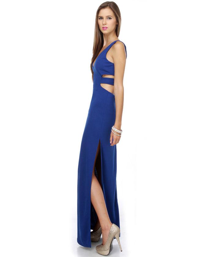 Cheap Jessica Rabbit\'s Closet Blue Maxi Dress on sale at Weddingdressbraw.com