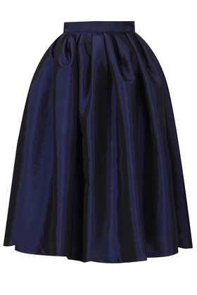 Navy Blue Taffeta Skirt - Skirts  - Clothing  - Topshop