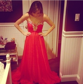 dress red dress prom dress sparkling dress glitter dress