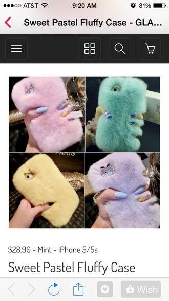 phone cover iphone cover iphone case iphone iphone 6 case fur iphone 5 case pastel pastel phone case cute