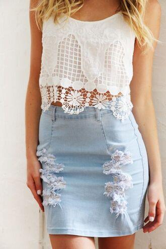 top www.ustrendy.com white top white crochet crochet detail crochet overlay white crop