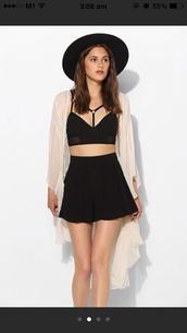 top,urban outfitters,bralette,bra,garter,ring,black,skirt,jacket