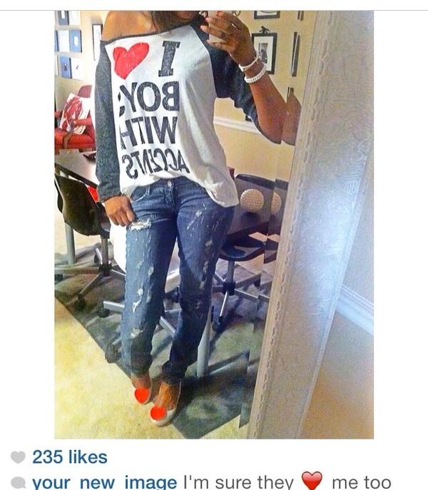 blouse t-shirt white t-shirt boyfriend jeans cute