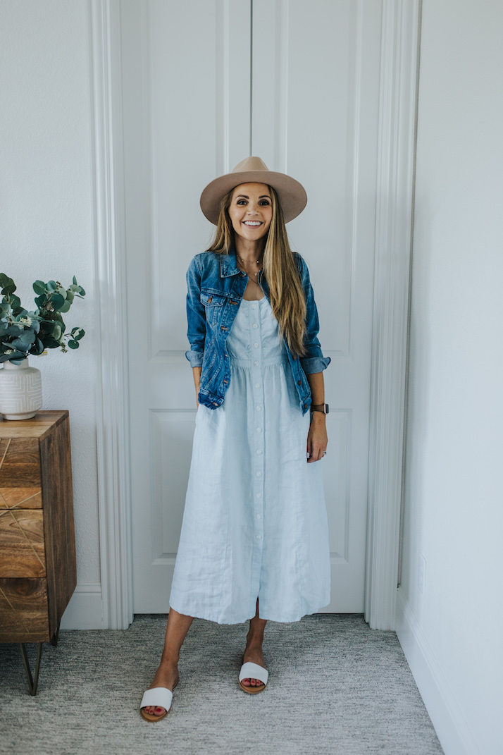 One Summer Dress, Styled Two Ways For Fall | Merrick's Art