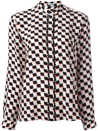 shirt checkered shirt women black silk checkered top