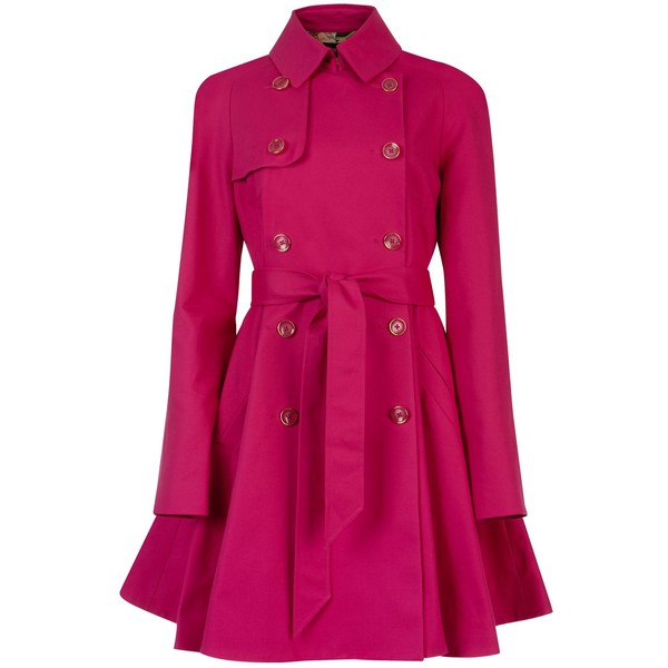 Ted Baker Carisa full skirt trench coat - Polyvore