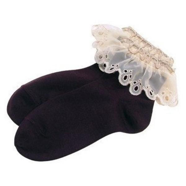 socks lace black white lace black socks