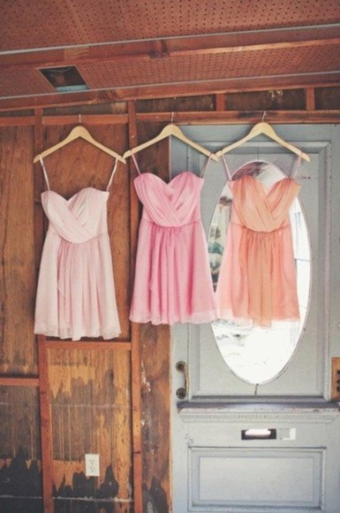 dress pink dress orange dress white cute white dress so beautiful short vintage pink light orange orange pretty prom dress short dress rosa rose dress coral dress pink and orange dress prom dresses short prom dress light pink light pink dress beautiful dress pretty in pink pastel girly mirror summer beach beachy california girly dress,