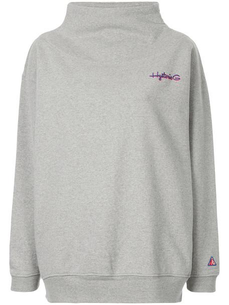 Hysteric Glamour - oversized funnel-neck sweatshirt - women - Cotton - One Size, Grey, Cotton