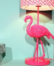 home accessory,pink,flamingo,lamp,home decor,decoration,cute,denim shorts