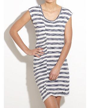 Bench striped draped panel dress