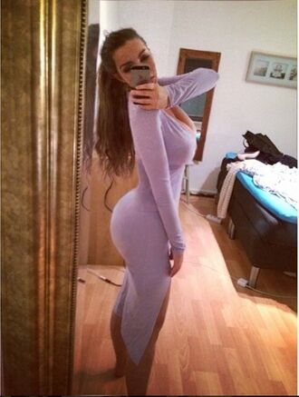 dress long sleeved dess purple booty ines helene long sleeve dress