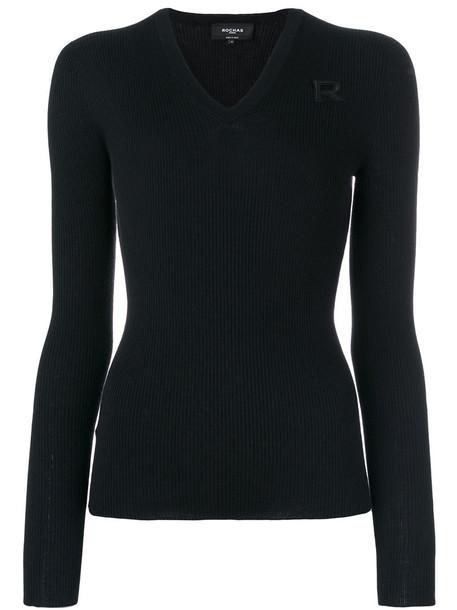 Rochas jumper women black wool sweater