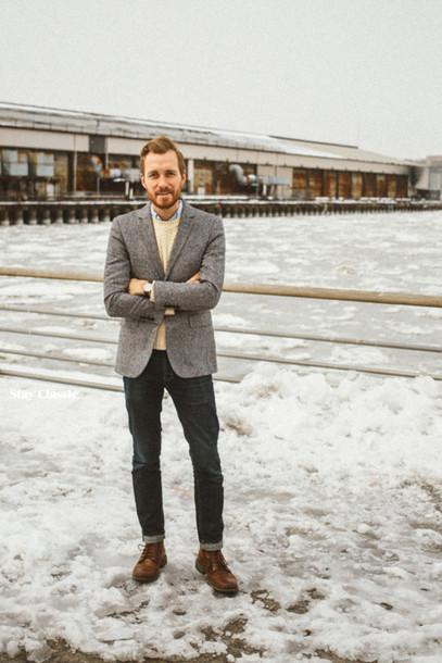 stay classic blogger classy menswear mens blazer grey blazer