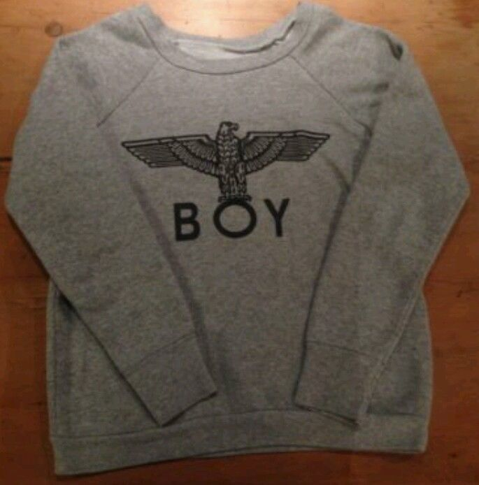 Ladies Boy London Grey Jumper sweater Size S 8/10 sweatshirt | eBay