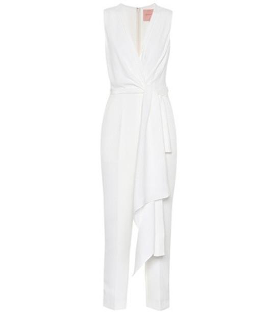 Roksanda Rokuro bridal silk-blend jumpsuit in white