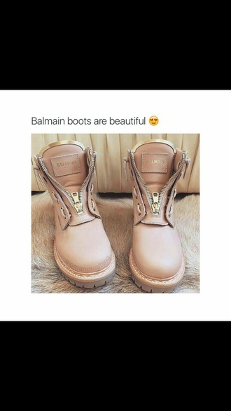 shoes balmain boots pink ankle boots balmain