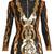 V-neck sequin-embellished mini dress