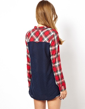 Hilfiger Denim | Hilfiger Denim Check Shirt With Contrast Back at ASOS