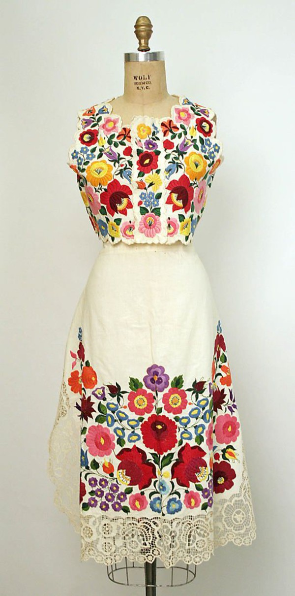 Dress hungarian embroidered ensemble wheretoget