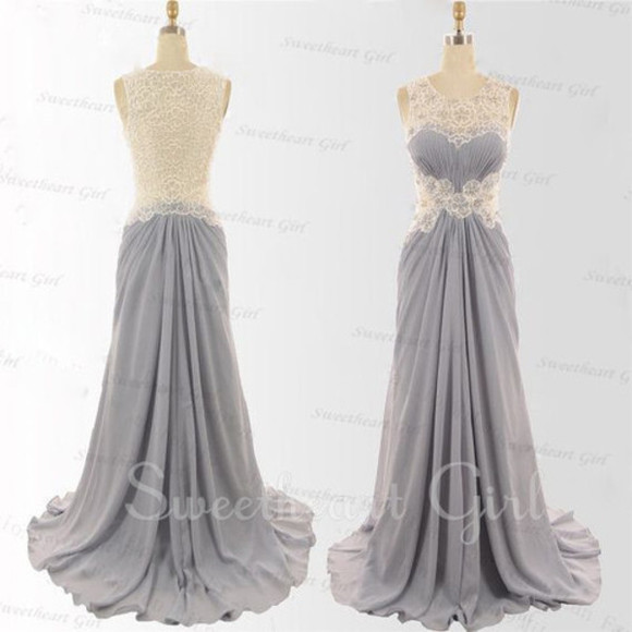 dress prom evening dress prom dress gray dress