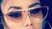sunglasses,aviator sunglasses,ombre,gold,blush