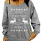 Women christmas print pullover sweatshirt