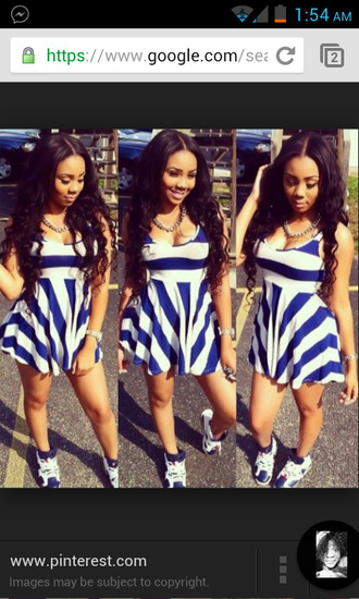 blue and white striped