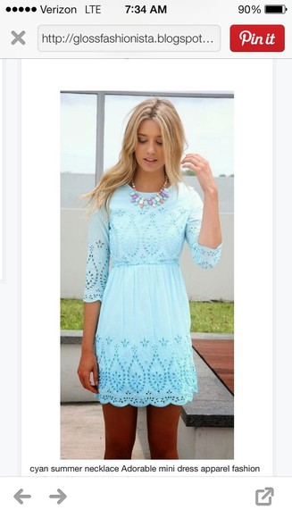 dress blue dress spring fashion spring dress