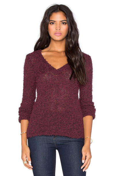 BCBGeneration sweater v neck burgundy