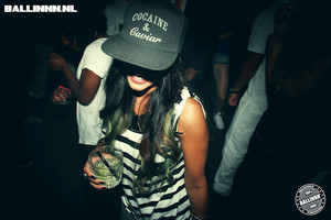 hat cocaine & caviar cap black white party