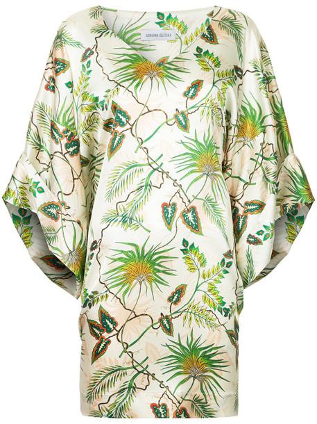 Adriana Iglesias dress tropical women spandex silk
