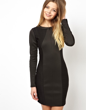 ASOS | ASOS Textured Zip Mini Dress at ASOS