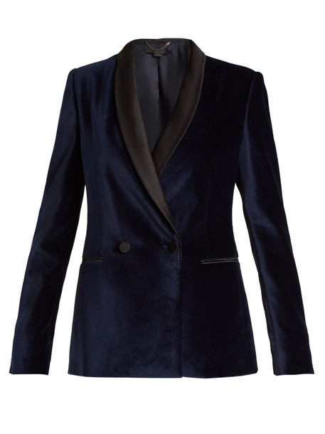Stella McCartney jacket velvet navy