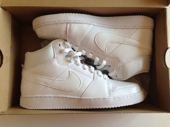 shoes white tumblr nike kicks high tops white nikes