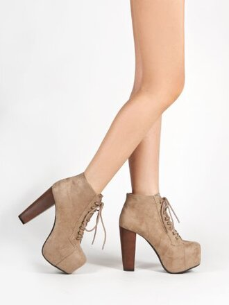 shoes taupe boots heels cute platform shoes lovethese