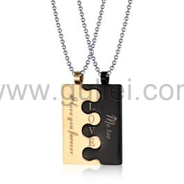 Personalized Interlocking Necklaces Best Gifts for Couples
