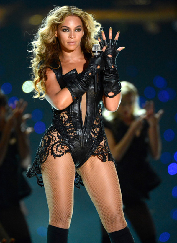 dress black leather beyonce bodysuit fierce
