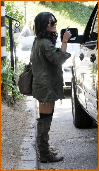 vanessa hudgens shoes over the knee boots over-the-knee