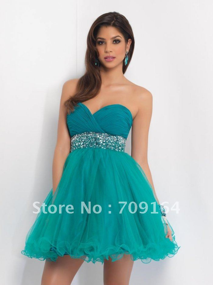 Elegant Sweetheart Beaded A Line Green Organza Ruched Classy Homecoming Dresses FH042-in Homecoming Dresses from Apparel & Accessories on Aliexpress.com