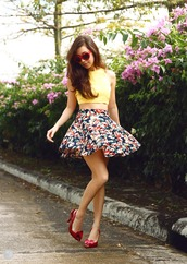 kryzuy,sunglasses,t-shirt,skirt,shoes