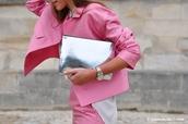 bag,clutch,metallic clutch,silver clutch,coat,pink coat