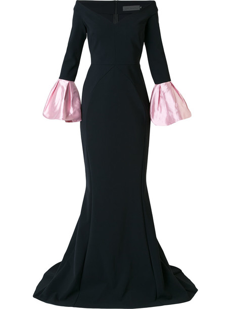 Greta Constantine dress evening dress women spandex black silk
