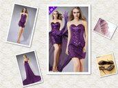 dress,prom dress,purple,sequin dress